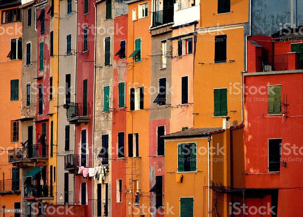 Row Houses, Portovenere, Italy royalty-free stock photo
