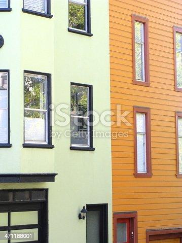 108220043 istock photo Row Houses San Francisco Orange 471188001