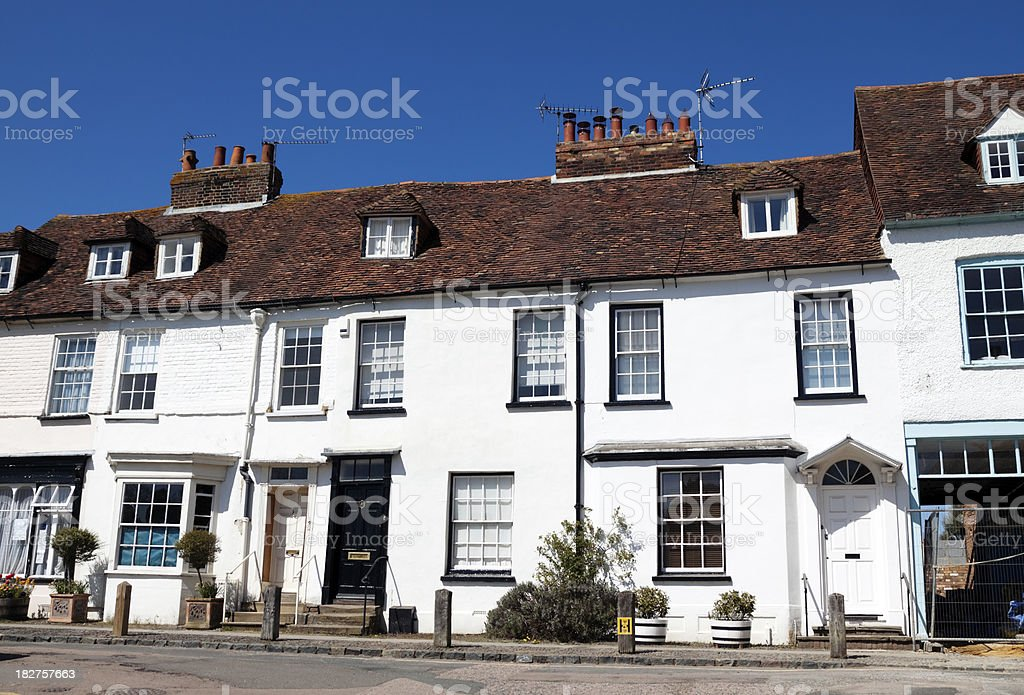 Row of ancient Kent houses royalty-free stock photo