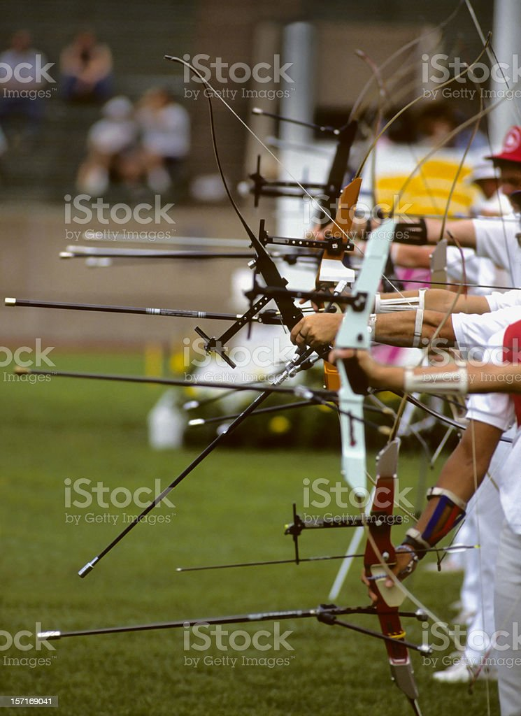 row of archers royalty-free stock photo
