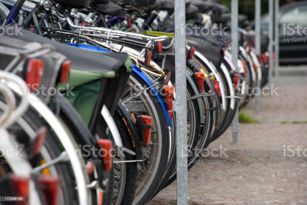 row of back wheels royalty-free stock photo