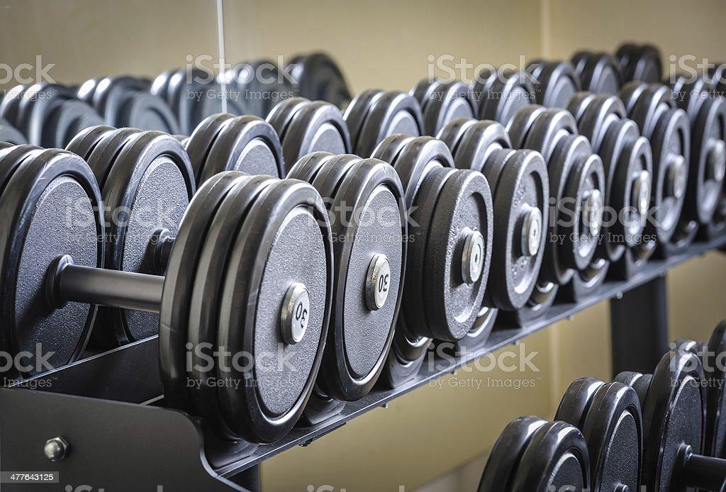 Fila de pesas - Foto de stock de Artículos deportivos libre de derechos