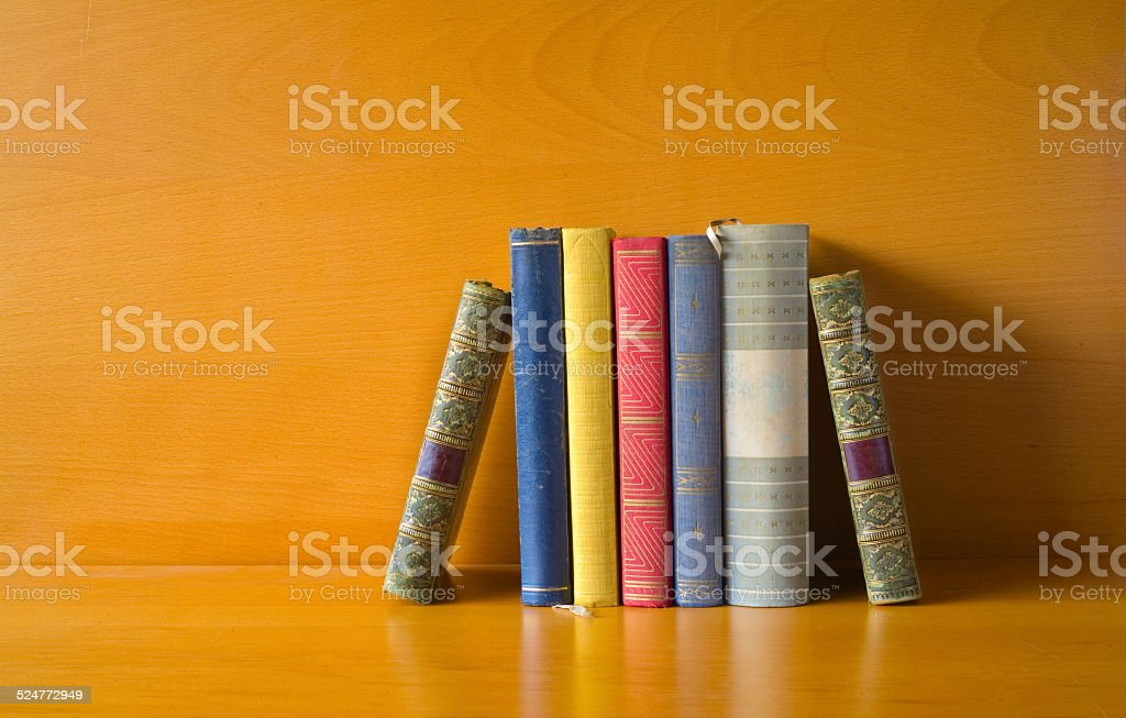row of books, free copy space stock photo