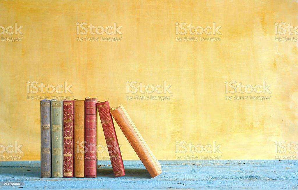 Reihe von Büchern Lizenzfreies stock-foto