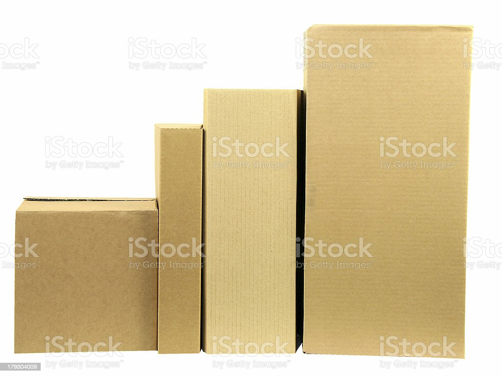 Row of boxes royalty-free stock photo