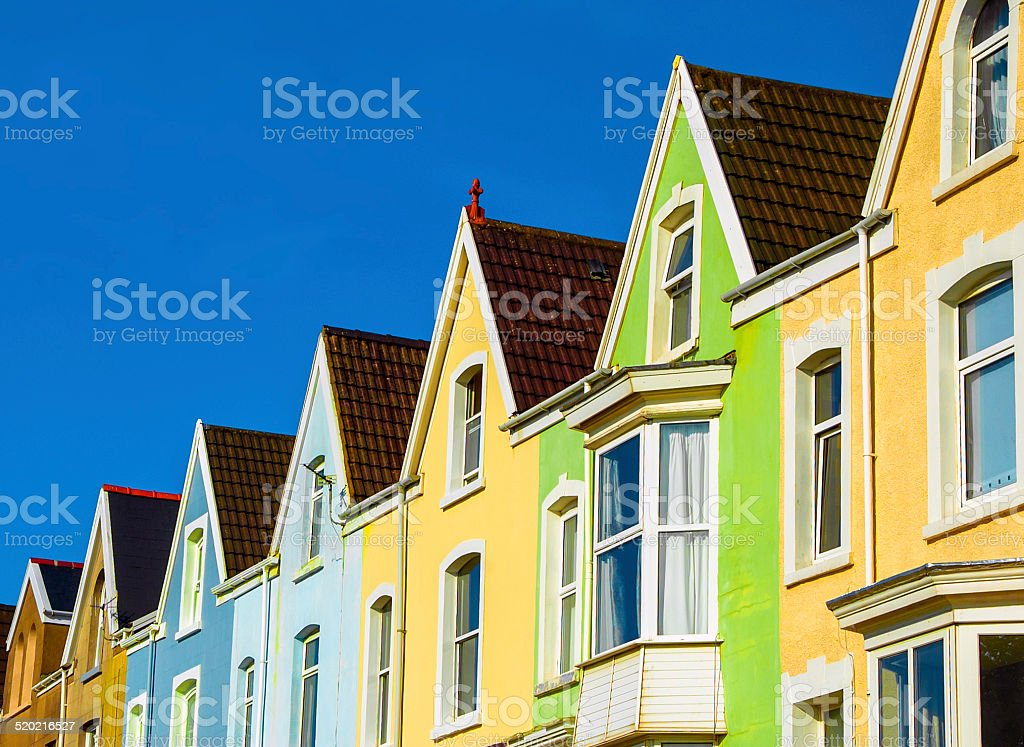 Row of British Homes stock photo