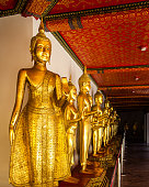 Row of Buddha at \