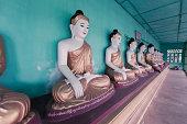 Row of Ancient Buddhas