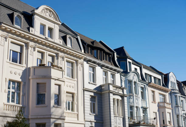 Reihe klassischer Stadthäuser – Foto