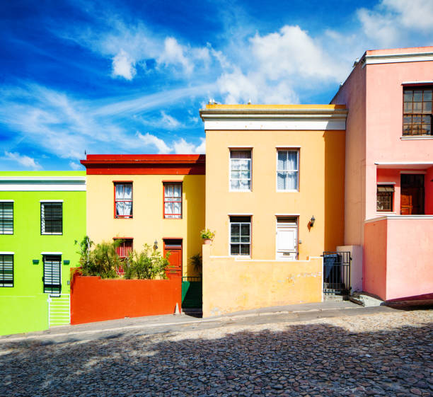 Bunte Häuser in Kapstadt – Foto