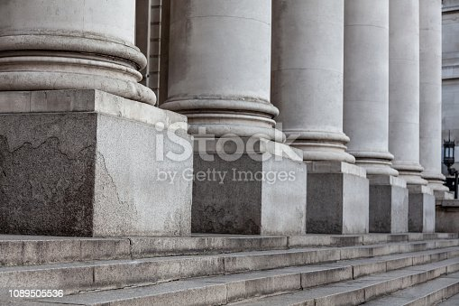 Row of columns and stairs