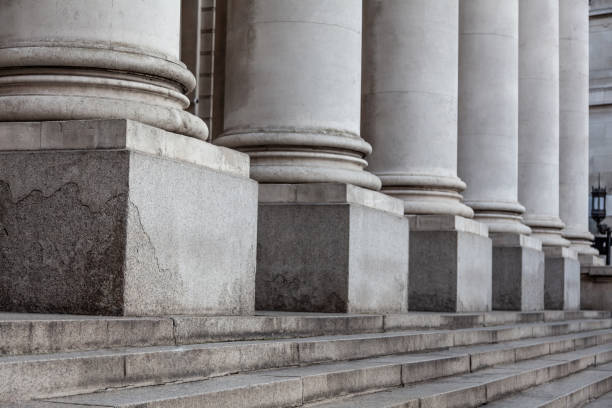 Row of columns Row of columns and stairs stable stock pictures, royalty-free photos & images