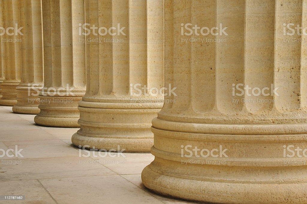 Row of columns stock photo
