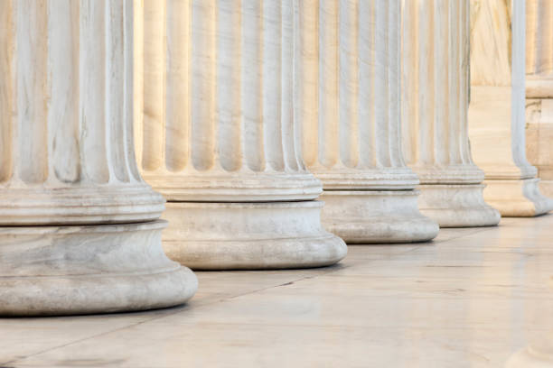 row of columns - roman stock photos and pictures