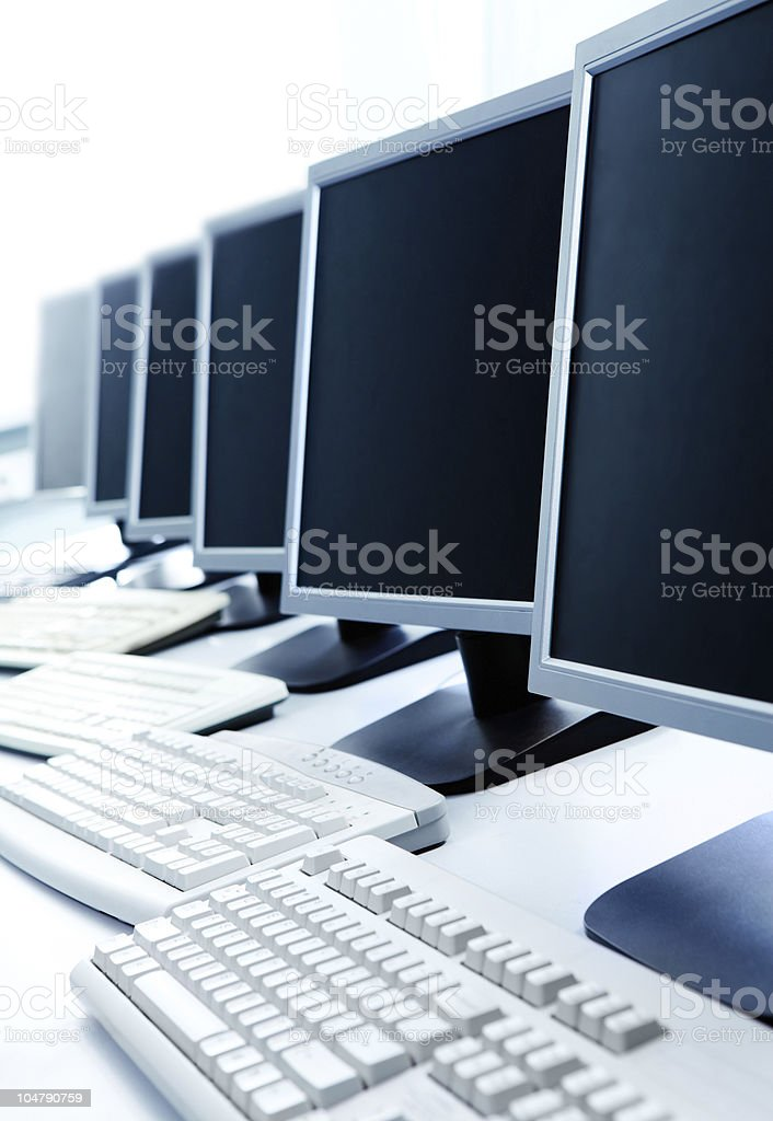 Row of computers royalty-free stock photo