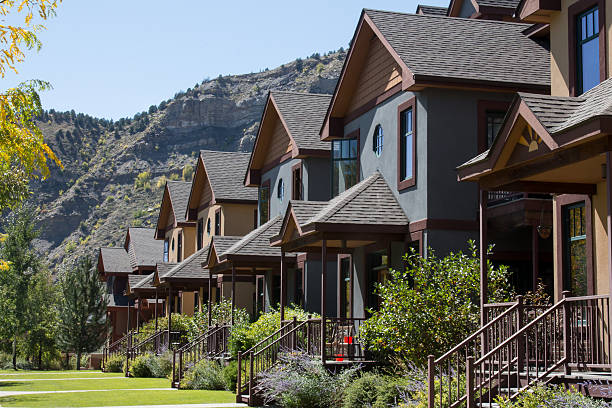 Row of condominiums in downtown Durango, Colorado