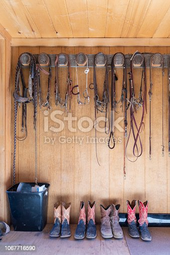 Row of Cowboy Boots for a Family