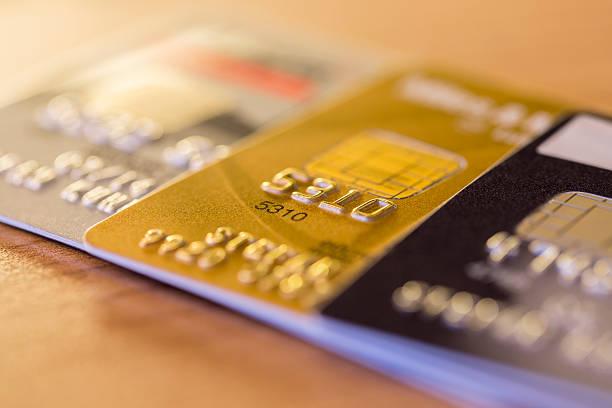 Reihe von Kreditkarten – Foto