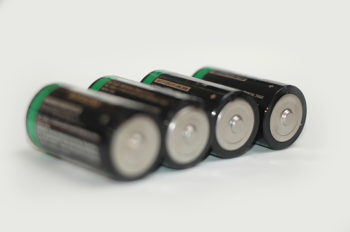 Row of D size batteries