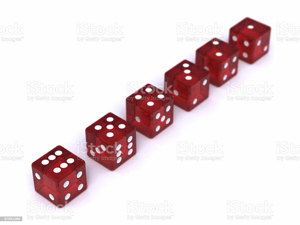 Row of dices royalty-free stock photo