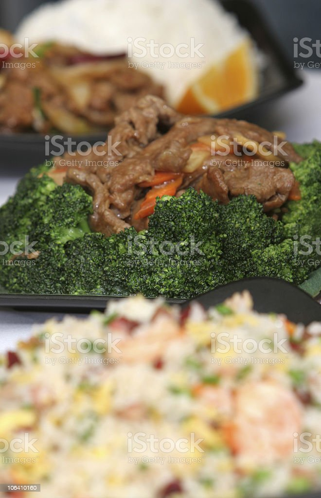 Row of dishes - Party, Catering etc. stock photo
