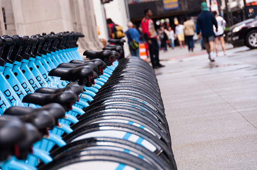 A Row of Divvy Bicycles