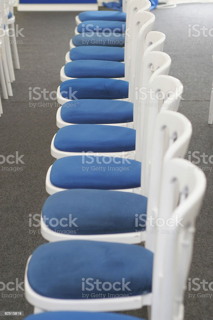 Row of Empty Chairs royalty-free stock photo