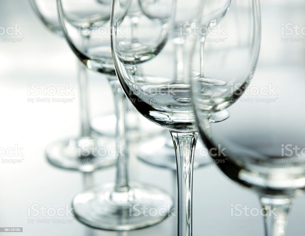 연립 of 엠티 wineglasses. royalty-free 스톡 사진