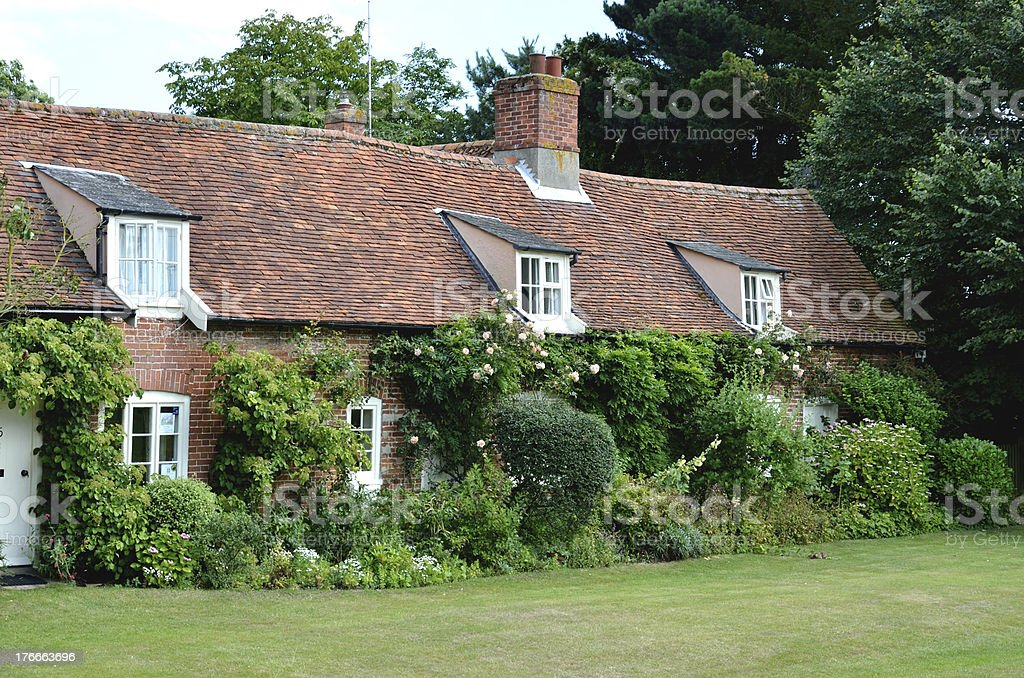Row of English Country cottages royalty-free stock photo