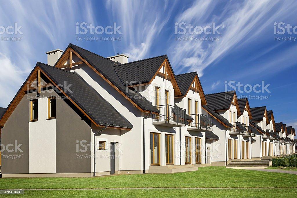Row of Family Townhouses royalty-free stock photo