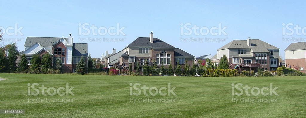 Row of generic subdivision houses royalty-free stock photo