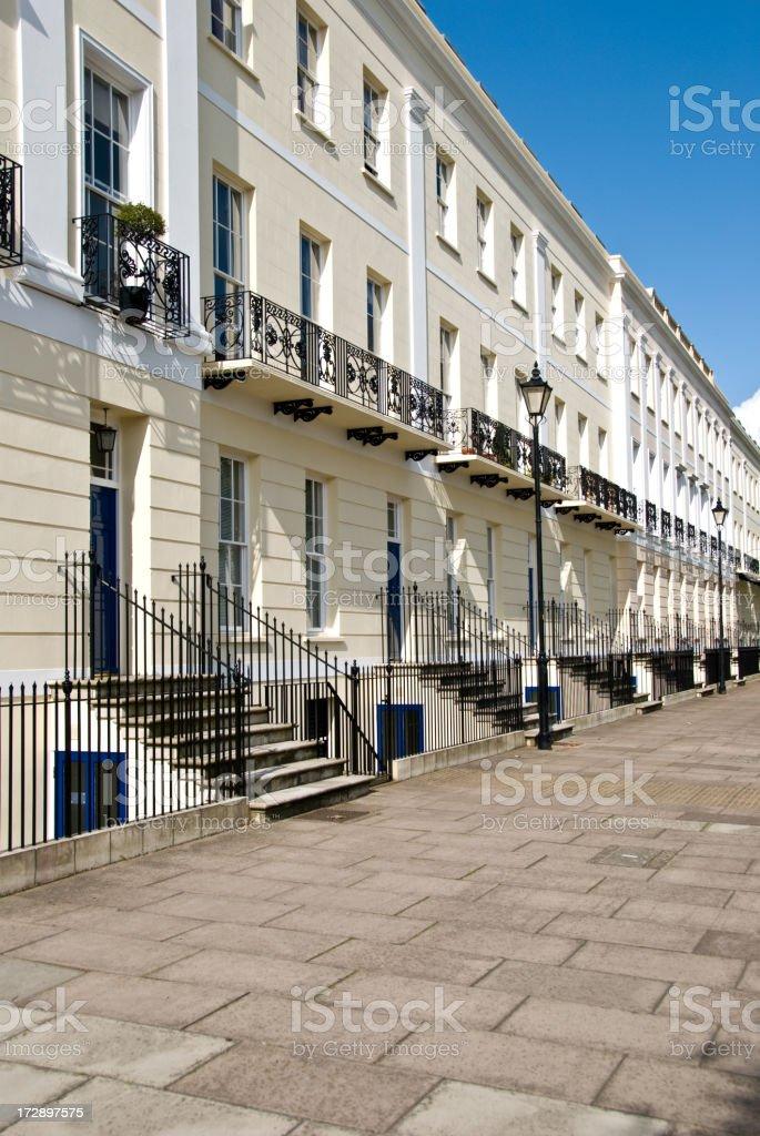 Row of Georgian Houses royalty-free stock photo
