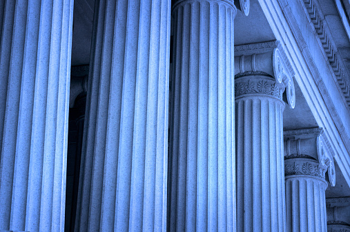istock Row of Greek columns 184931612