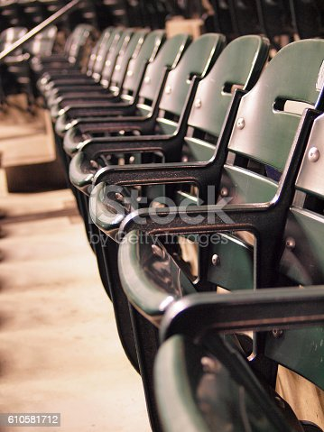 istock Row of Green Seats 610581712