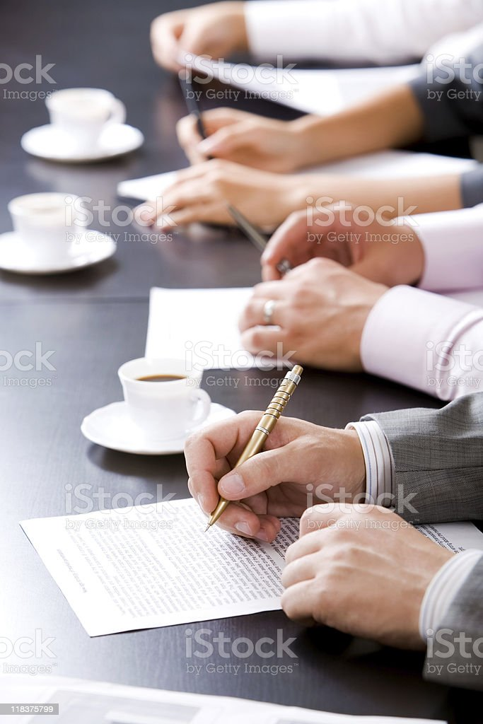 Row of hands royalty-free stock photo