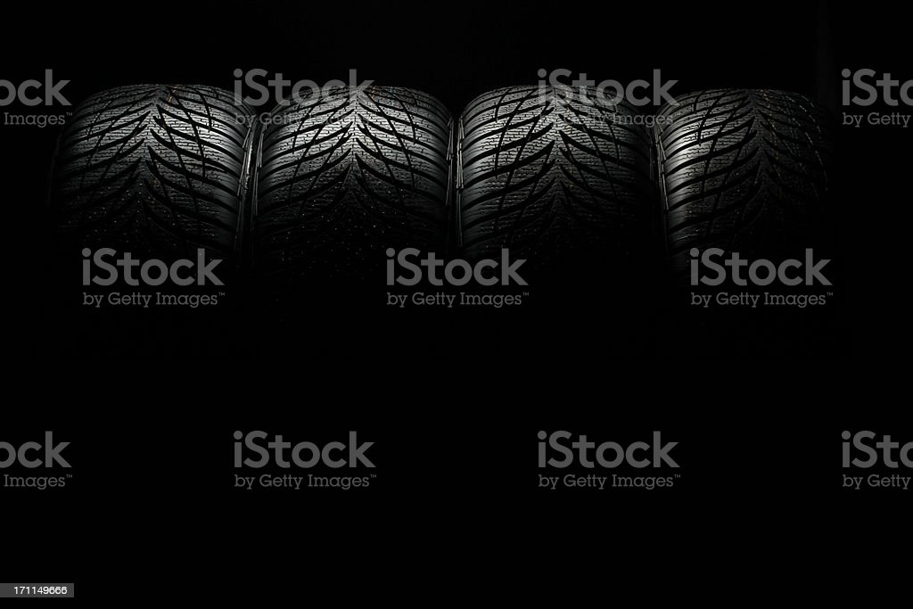 row of high performance tires royalty-free stock photo
