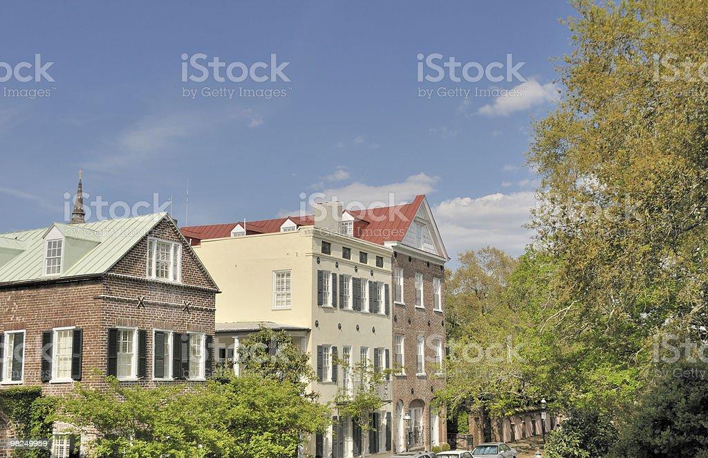 Row of Houses, Charleston, South Carolina royalty-free stock photo