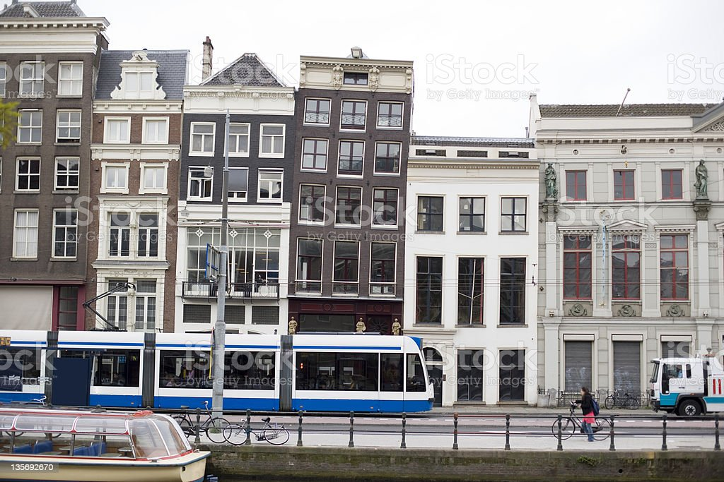 Row of houses in Amsterdam royalty-free stock photo