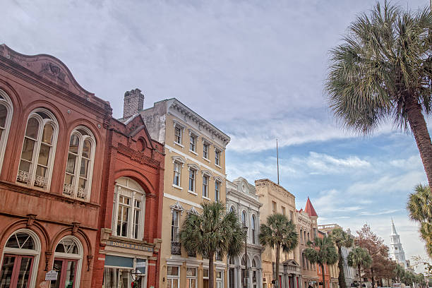 Row of Houses in Historic Charleston, South Carolina – Foto