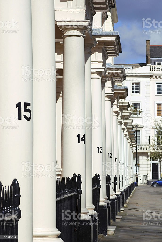 Row of houses in London royalty-free stock photo