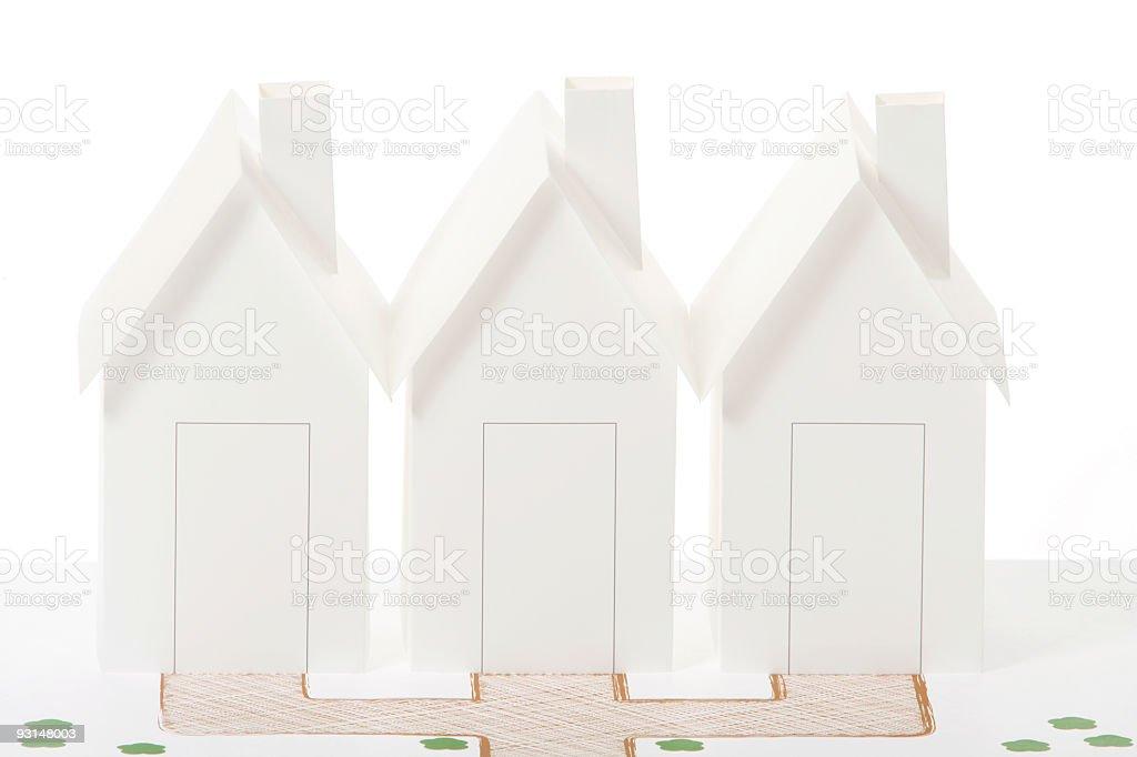 Row of houses royalty-free stock photo