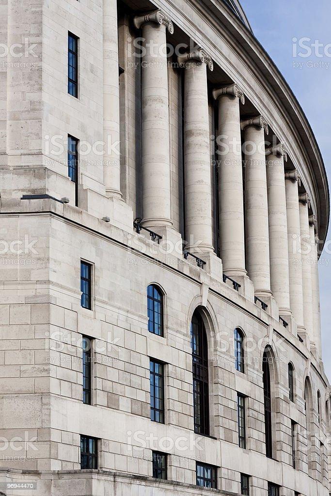 Row of Ionic Columns royalty-free stock photo