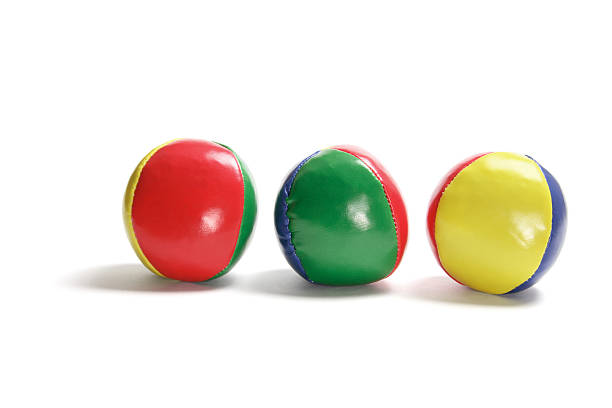 Row of Juggling Balls stock photo