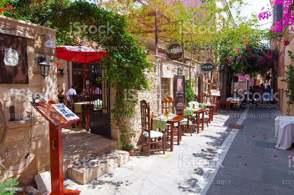 Wiersz Lokalnych Restauracji Retimno Stare Miasto Kreta