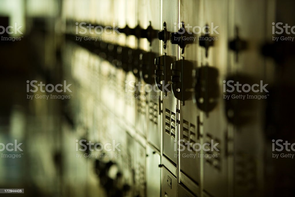 Row of Lockers stock photo