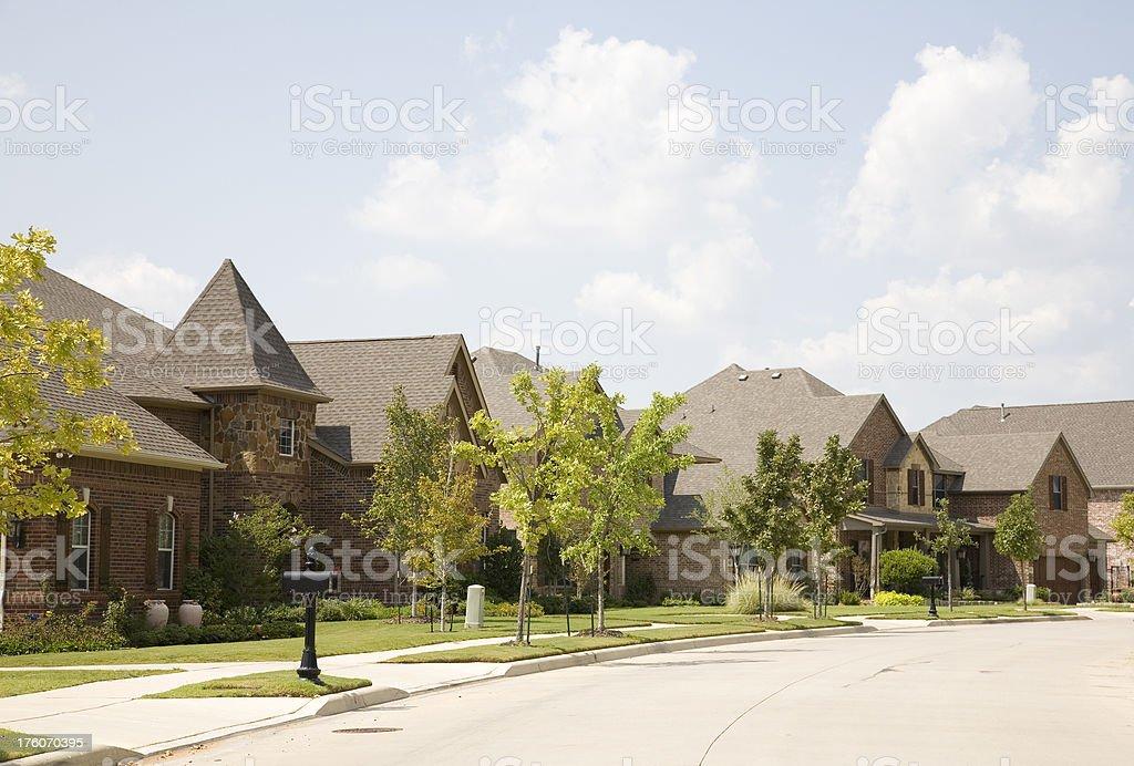 Row of Luxury Homes royalty-free stock photo