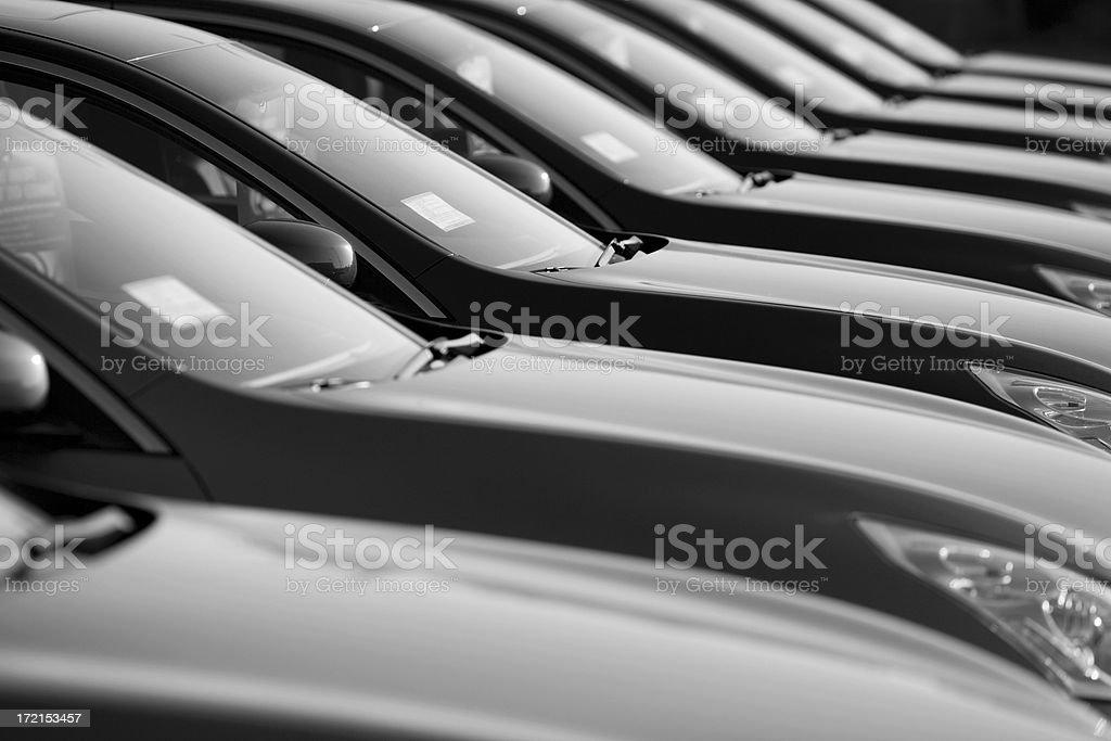 Row of New Cars at a Dealership royalty-free stock photo