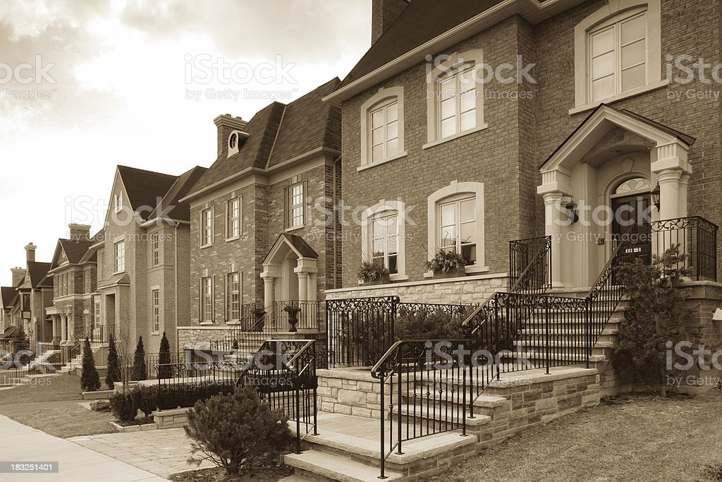 Row of New Houses royalty-free stock photo