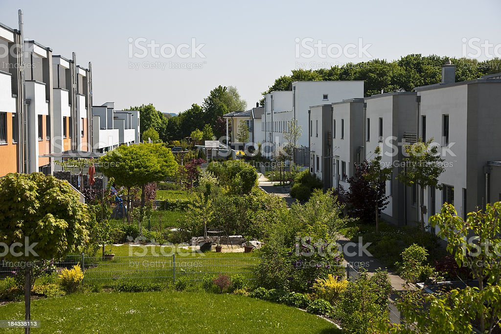 Row of New Townhouses royalty-free stock photo