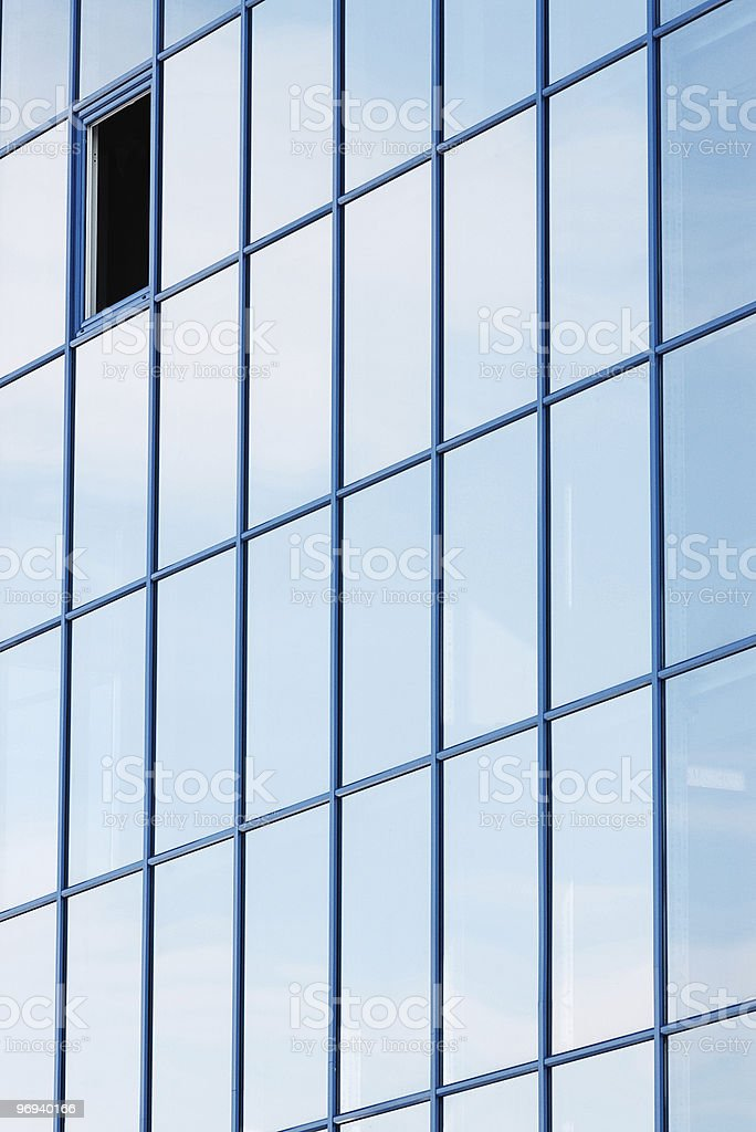 row of office building windows royalty-free stock photo